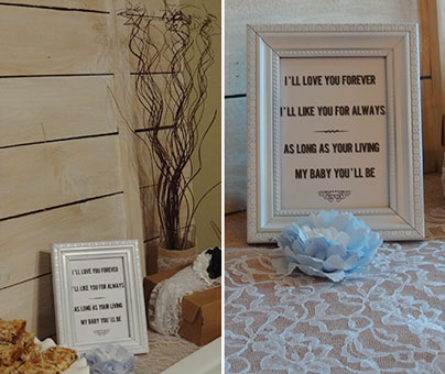 rustic baby shower