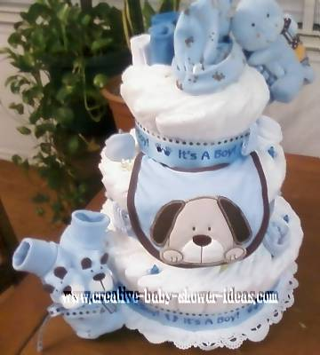 its a boy dog diaper cake