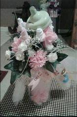 top of sock rose flower bouquet