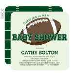 football touchdown baby shower invitation