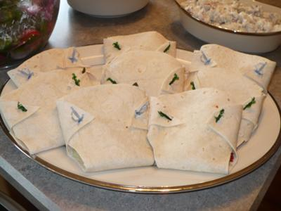 Diaper Tortilla Sandwich Wraps