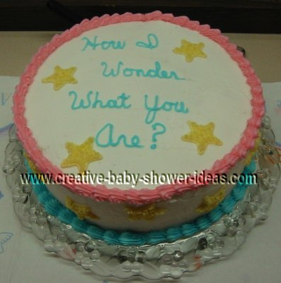 little star baby shower cake