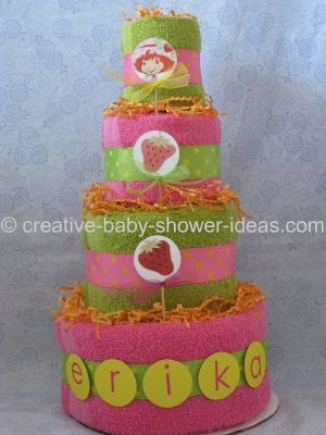 strawberry shortcake towel cake