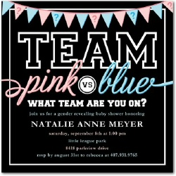 Gender reveal party ideas gender reveal baby shower invitation stopboris Image collections