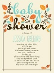 autumn baby shower invitation