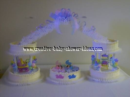 5 tier baby shower cake
