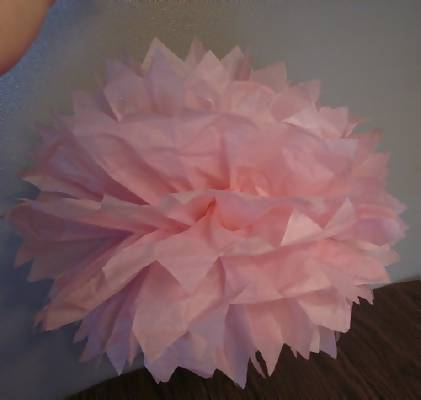 How to make tissue paper flowers easy step by step photos tissue paper flower attached to fishing line mightylinksfo