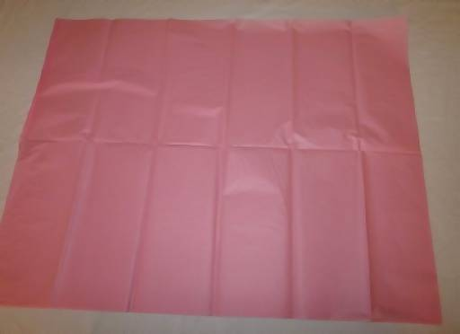 tissue paper laying flat