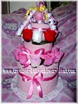 pink hello kitty towel cake