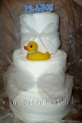 its a boy rubber ducky towel cake