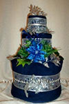 winter blue towel cake