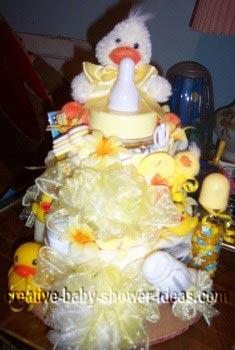 yellow duck towel cake