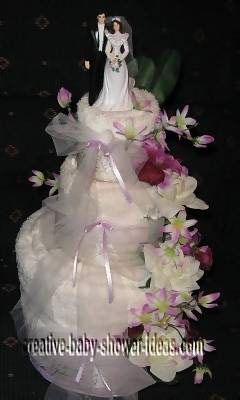 wedding bridal shower towel cake