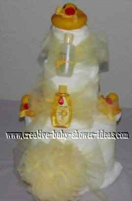 rubber ducky towel cake