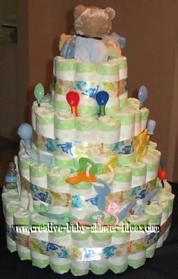 toy diaper baby cake