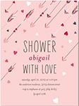 cupids quiver arrows baby shower invitation
