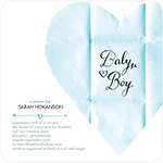 love note baby shower invitation