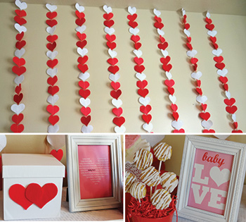 valentine baby shower decorations