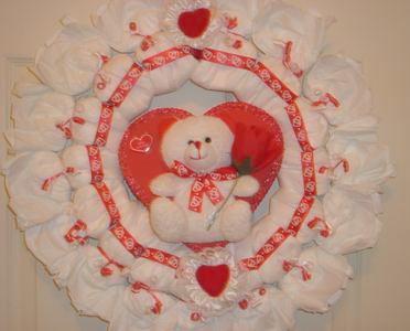 valentines diaper wreath