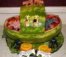 baby shower ideas watermelon carriage
