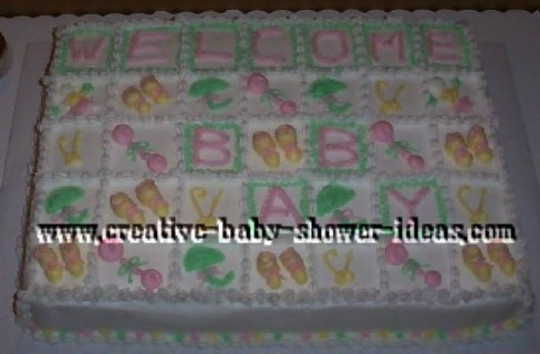 welcome baby quilt cake