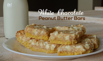white chocolate chip peanut butter bars