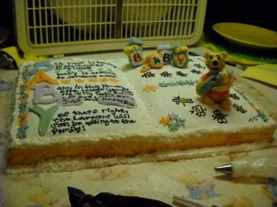 Story Book Winnie The Pooh Baby Shower Cake