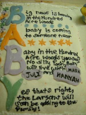 Baby  Pooh Cake