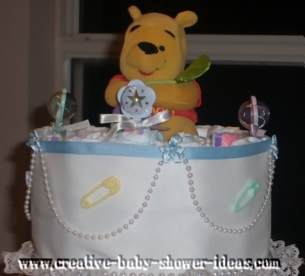 top of winnie the pooh diaper cake