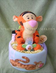 tigger and friends pooh diaper cake