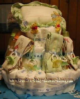baby blankets and pillow pooh diaper cake