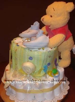 other side of winnie the pooh diaper cake