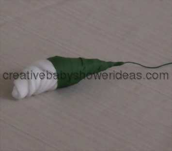 wrapped baby sock rose