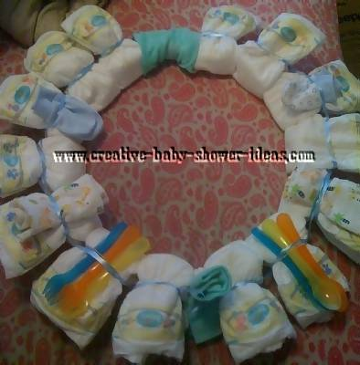 boy diaper wreath