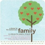 family tree adoption baby shower invitation