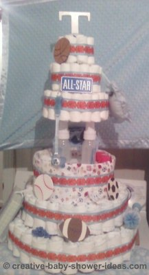all star diaper cake