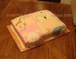 jungle animals quilt blocks cake