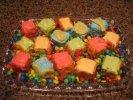 starburst blocks shower cake