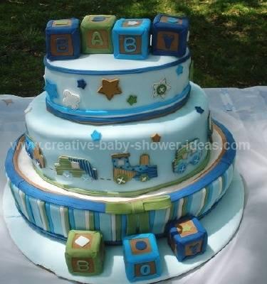 carters blue blocks baby cake
