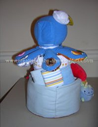 back of octopus baby einstein diaper cake