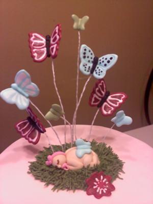 Baby Garden Shower Cake