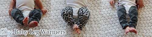babies wearing diy leg warmers