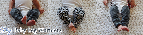 3 babies wearing leg warmers
