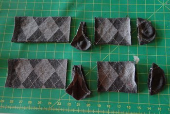 Crew socks cut to make infant leggings