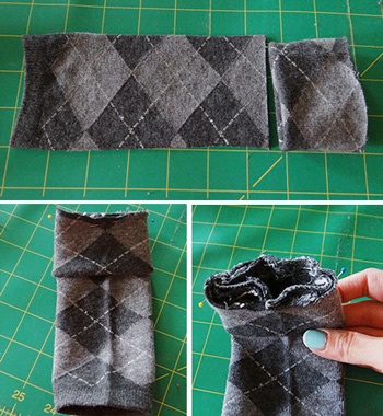 Socks lined up and pinned for sewing