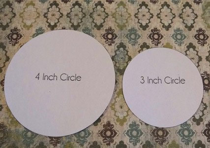 circle templates laying on scrapbooking paper