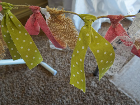 scrap fabric baby shower banners