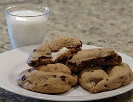 stuffed smore cookies