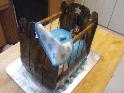 Crib Baby Shower Cake