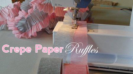 grey and pink crepe ruffles